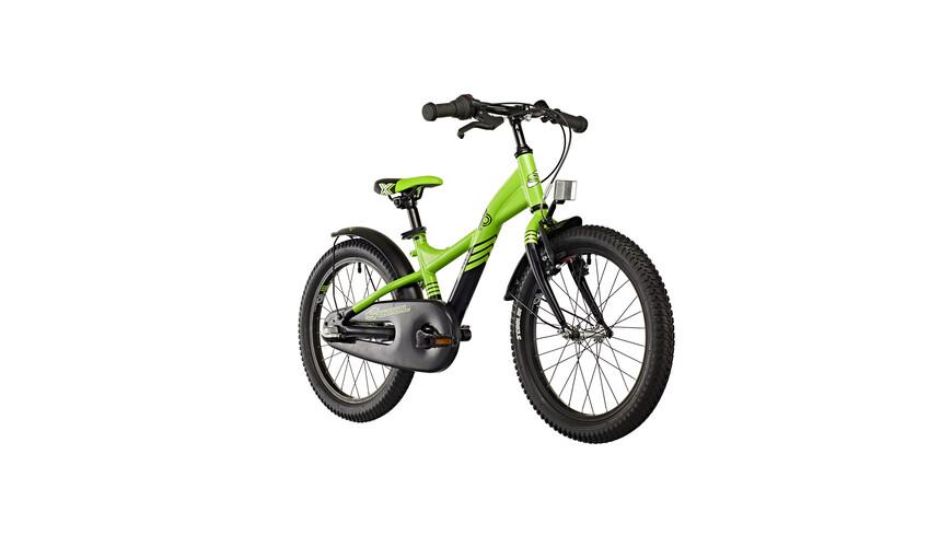 s'cool XXlite 18-3 Rower dziecięcy  zielony/czarny